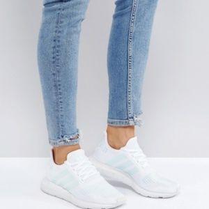 adidas Swift Run White, Greone & Ice Mint Shoes